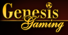 Genesis gaming gold on brown